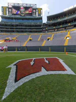 The Badgers played LSU at Lambeau Field to open the 2016 season.