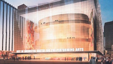 A feasibility study suggests a 2,850-seat theater be built at Midtown Parcel 5.