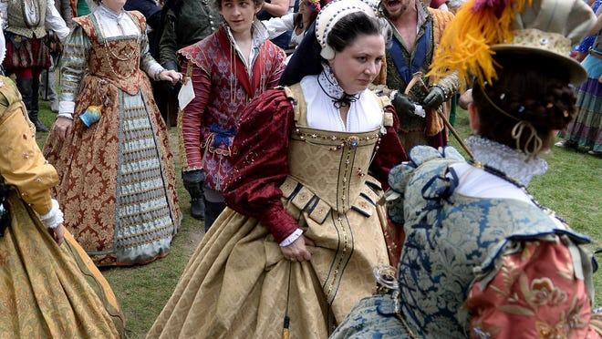 Actors dressed in 16th-century period attire parade around the grounds of the Bristol Renaissance Faire in Kenosha.