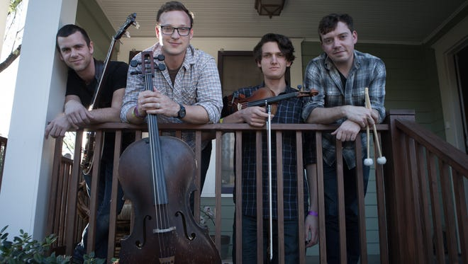 Ben Sollee, second from left, and his band, Kentucky Native, will perform Saturday at Pensacola State College's Ashmore Auditorium.