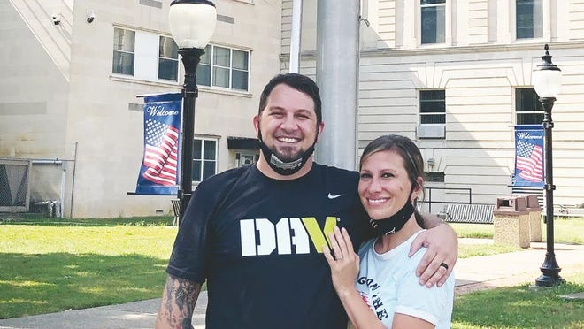 Adam Greathouse, with wife Stacy, dedicates his life to serving his fellow veterans.