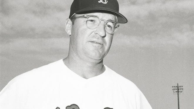 In this 1971 file photo, Boston Red Sox manager Eddie Kasko poses for a photo during baseball spring training in Winter Haven, Fla.