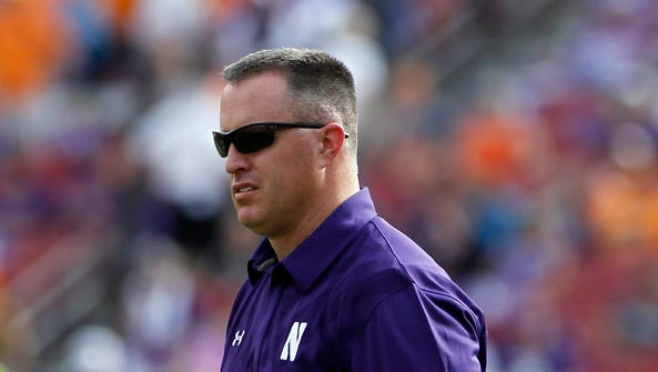 Northwestern Wildcats head coach Pat Fitzgerald during