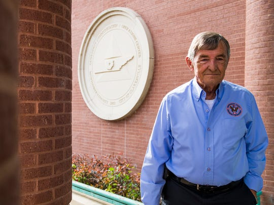 Jerry Buchanan, director of the Montgomery County Emergency Management Agency, poses for a portrait in Clarksville on Nov. 30, 2017.