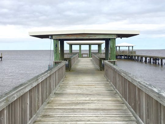 There are amazing views from the home's pier.