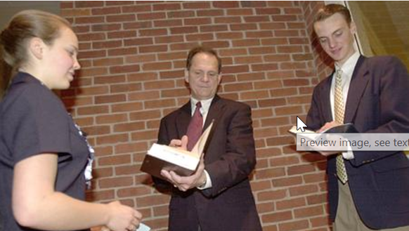 Judge Roy Moore writes a personal note for Sarah Duncan,