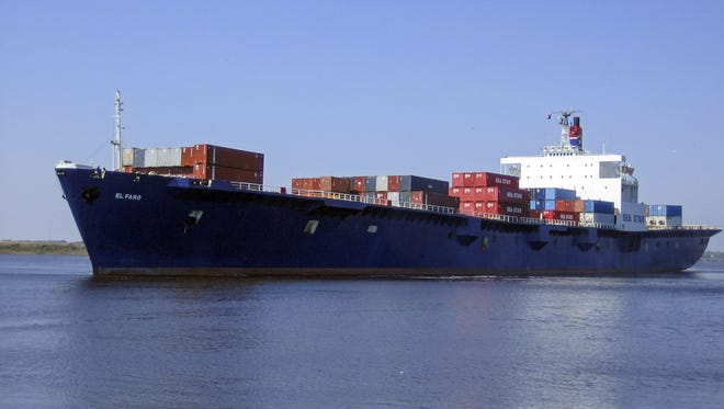 An undated handout photo made available by TOTE Maritime shows the container ship El Faro that went missing in the area of Hurricane Joaquin near the Bahamas.