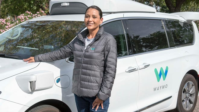 Dezbah Hatathli is a driver for Waymo's self-driving car program in Chandler. She says she was drawn to the job in part because her mother was killed in a preventable car accident.