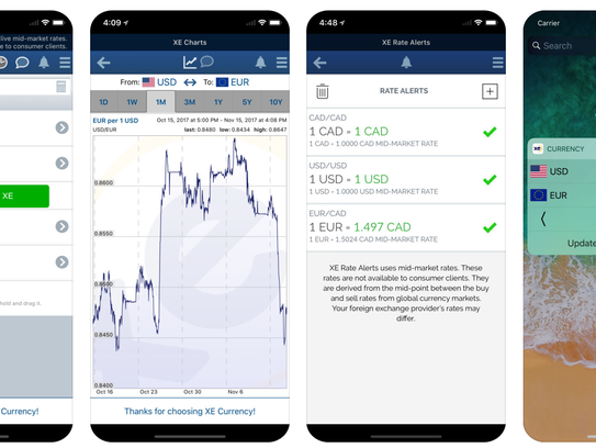 Get up-to-the minute currency exchanges, and more,