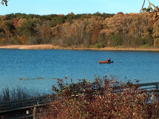 A view from Ottawa Lake in the southern portion of Kettle Moraine State Forest in Campbellsport.