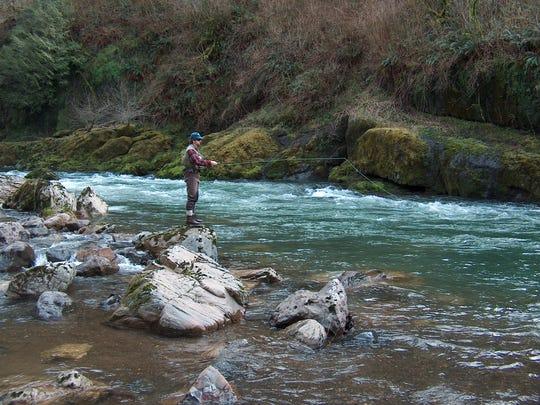 Winter-run steelhead fishing generally kicks off on