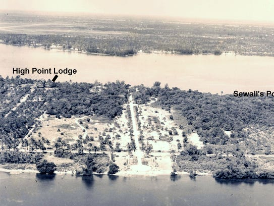 An aerial photo of High Point Lodge at Sewall's Point