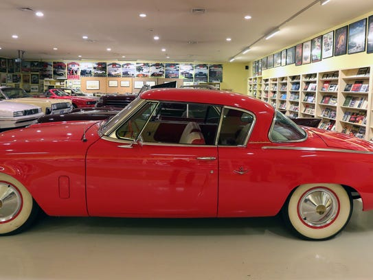 A 1953 Studebaker Starlight Coupe at the Malcolm Pray