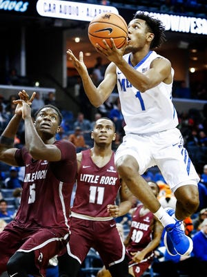 Memphis guard Jamal Johnson averaged 6.9 points, 3.3 rebounds and 1.0 assists per game.