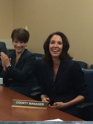 Former Deputy County Manager Joy Rich (right) was elevated to the post of Maricopa County manager on May 23 by the Maricopa County Board of Supervisors. She edged out a short list of four candidates to replace Tom Manos, who retired.