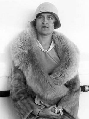 In this Aug. 11, 1930, file photo, Huguette Clark, a copper magnate from Montana, poses for a photo in Reno, Nev.