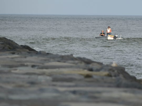 A boat at the Inlet in Ocean City on Wednesday, May