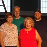 RiverStage members Linda Shuck, artistic director Bob Baker, Pat Norman and production manager Tom Dean.