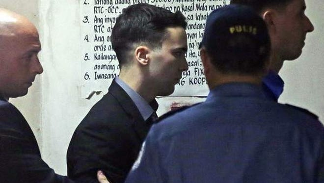 Lance Cpl. Joseph Scott Pemberton is seen in this 2015 file photo. He has been released from a Philippine prison, after being convicted of killing a transgender woman.