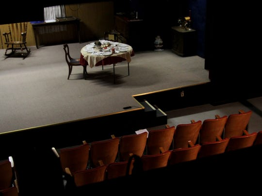 """The stage at the Carlsbad Community Theater has been the set for many plays including the plays """"1918,"""" """"Clue,"""" and  many others."""