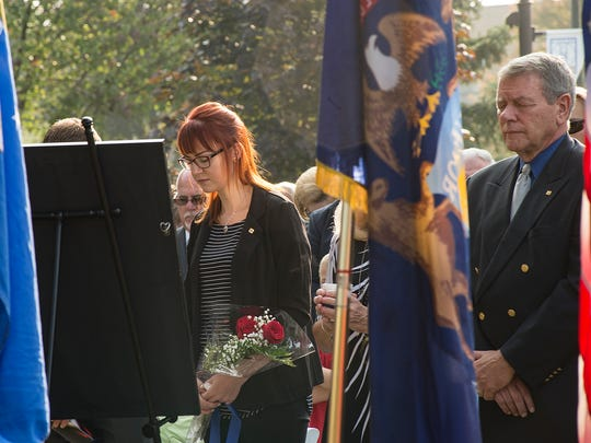 Shelly Becker, widow of Maj. Andy Becker.