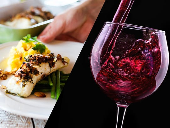 Fish and... red wine? Why not.