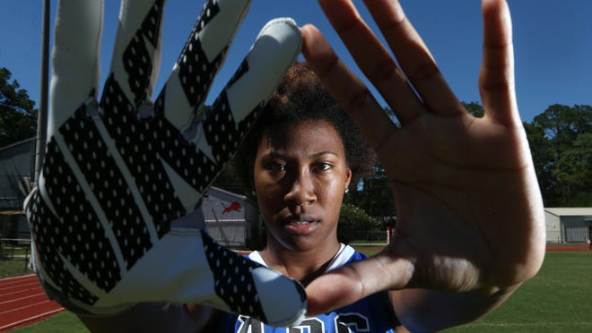 Godby senior Darrion Denmark is the 2017 All-Big Bend Player of the Year for flag football after making 57 catches for 676 yards and 13 touchdowns as a receiver and recording 32 flag pulls and 12 interceptions as a defensive back.