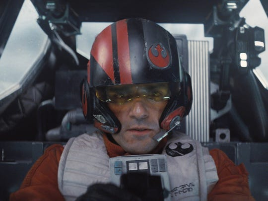 Poe Dameron (Oscar Isaac) is a Resistance X-wing pilot in 'Star Wars: The Force Awakens.'