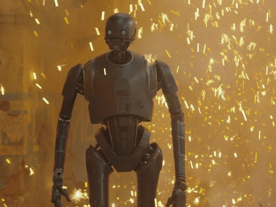 K-2SO (Alan Tudyk) sees quite a bit of action.
