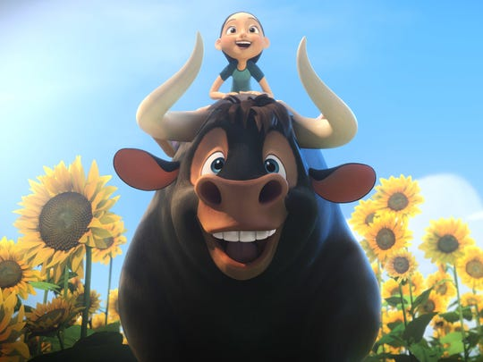 """A giant bull (voiced by John Cena) with a bigger heart wants to get back home in """"Ferdinand."""""""