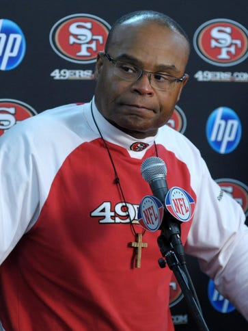 Former San Francisco 49ers coach Mike Singletary is