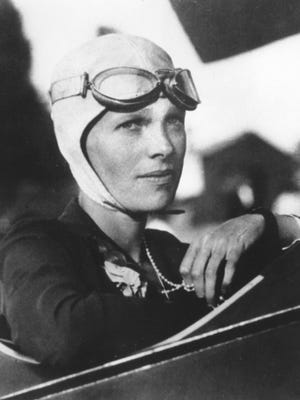 Amelia Earhart, the first woman to fly solo across the Atlantic Ocean.