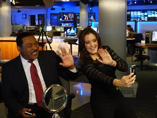 KTTV Los Angeles anchor Tony McEwing and reporter Christine