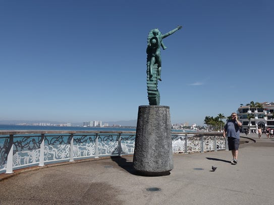 The Malecon is lined with sculpture and art