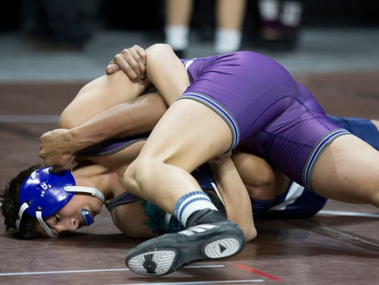 Spanish Springs' Anthony competes at 126 pounds Friday