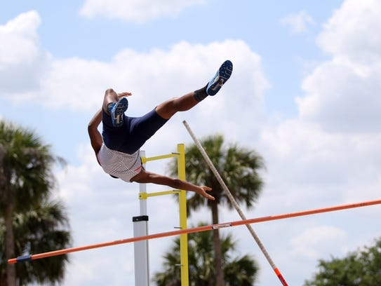 Athletes compete in the District 3A-12 meet at Palmetto