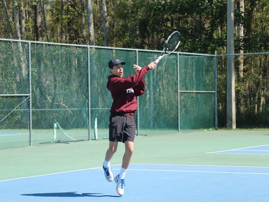 Chiles' Chris DeCardenas plays during the city tournament.