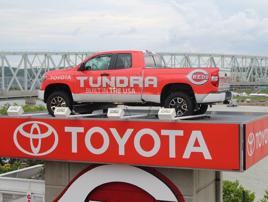 Toyota Tundra in Great American Ball Park.