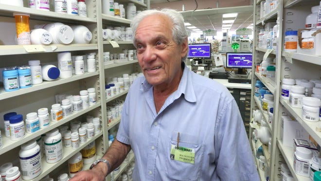Ira Glotzer at Drug Mart in Airmont June 30, 2016. He has owned the store since 1966. The store is 50 years old.