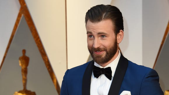Chris Evans at the Oscars in February.