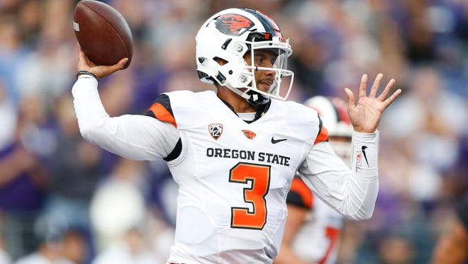 Oregon State quarterback Marcus McMaryion  makes his   fifth career start at UCLA on Nov. 12, 2016