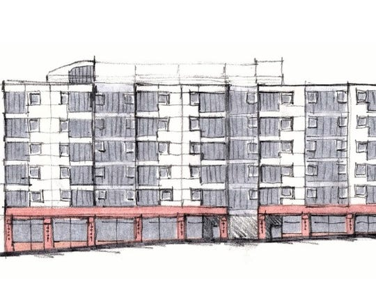 A modernist approach to redeveloping the Aurora Street block.