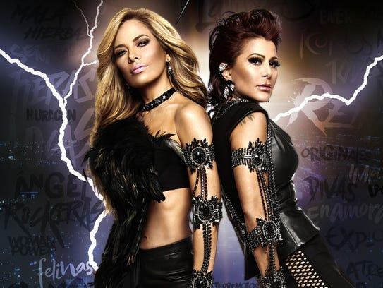 Mexican rockers Gloria Trevi and Alejandra Guzmán perform Wednesday at the Don Haskins Center.