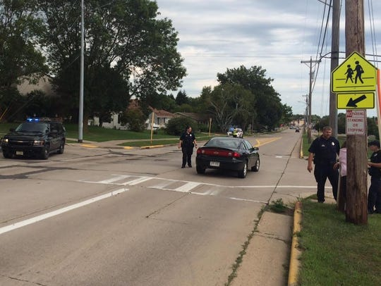 An 80-year-old man was struck by a vehicle on Upham