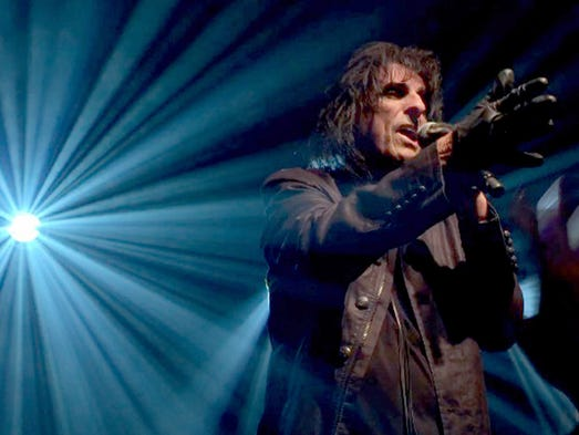 Alice Cooper performs during a special event on Woodward