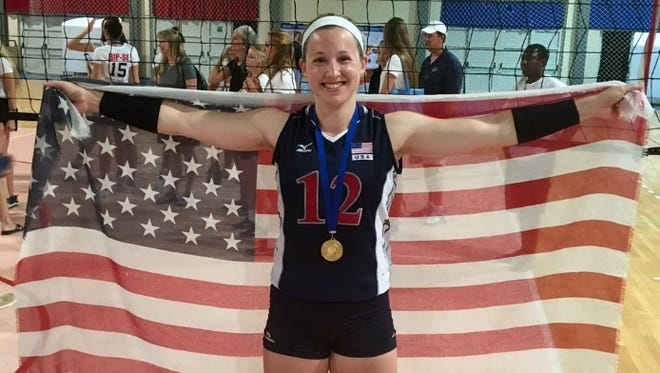 Lily Johnson helped Team USA to a four-set victory over China in the finals of the European Challenge on Thursday, July 14, 2016.