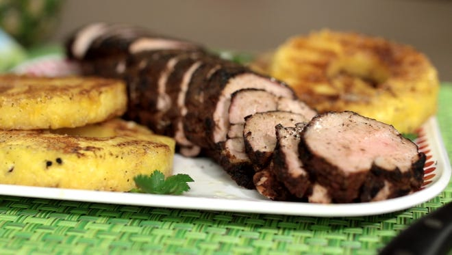 This week, Kim Galeaz and Kroger Kitchen brings you a recipe for grilled pork tenderloin with cocoa chile rub and grilled pineapple.