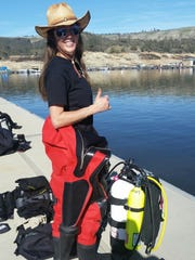 Sally Pritchett works for the county sheriff's office dive team.