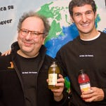 Seth Goldman (right) teamed up with his former professor, Barry Nalebuff, to launch Honest Tea.