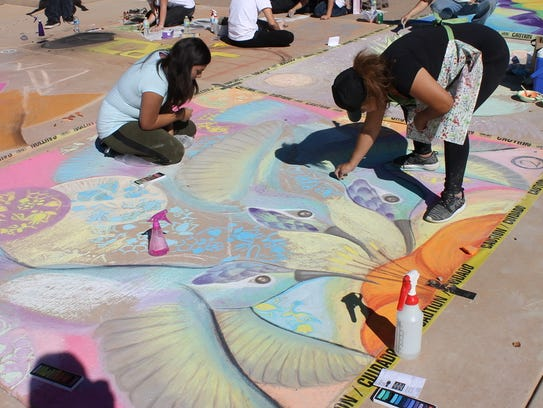 Create chalk art with professional artists at the sixth annual Chalk Art in the Park on Saturday, Nov. 4, at Goodyear Community Park, 3151 N. Litchfield Road, Goodyear. Free. 623-882-7530, goodyearaz.gov/arts.